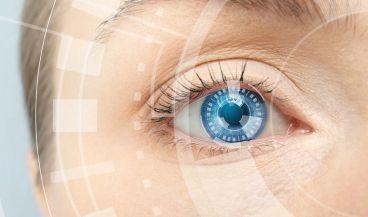 Las lentes inteligentes visualizan las señales de detección de glucosa en tiempo real.