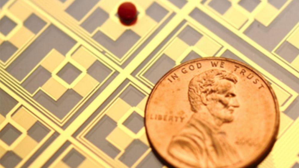 Imagen del dispositivo microfluídico diseñado por investigadores de la Universidad de Duke