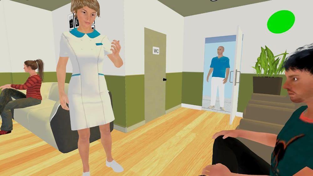La aplicación Virtea genera situaciones de realidad virtual como una visita al médico