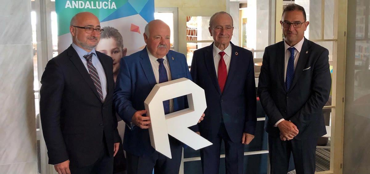 El consejero de Salud y Familias, Jesús Aguirre, durante la presentación del II Reto en Salud de Andalucía
