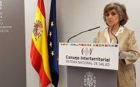 Ministra de Sanidad, Consumo y Bienestar Social en funciones, María Luisa Carcedo