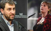 De izquierda a derecha: Toni Comín y Alba Vergés, últimos dos titulares de la Consejería de Salud de la Generalitat de Cataluña