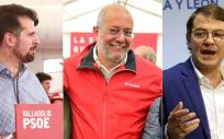 Luis Tudanca (PSOE), Francisco Igea (Ciudadanos) y Alfonso Fernández Mañueco (PP), dirigentes de Castilla y León.