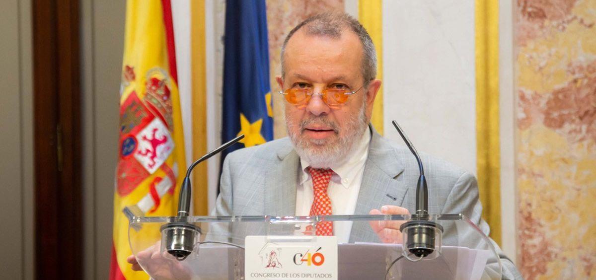El Defensor del Pueblo, Francisco Fernández Marugán (Foto: Congreso de los Diputados)