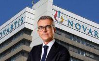 Jesús Ponce, director general de Novartis en España (Foto. Fotomontaje ConSalud.es)