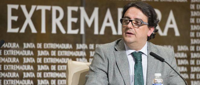José María Vergeles, consejero de Sanidad de la Junta de Extremadura.