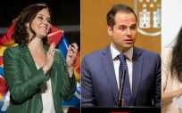 Isabel Díaz Ayuso (PP), Ignacio Aguado (Ciudadanos) y Rocío Monasterio (Vox) buscarán un pacto para la Comunidad de Madrid.
