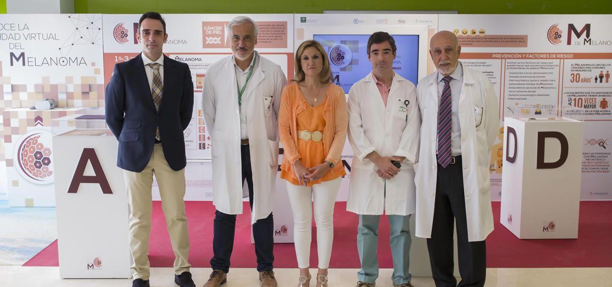 El Hospital Universitario de Jaén acoge la campaña 'M de Melanoma' para concienciar sobre el melanoma y el melanoma metastásico