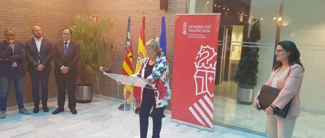Ana Barceló, durante su toma de posesión