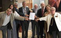 Los representantes del Foro de la Profesión Médica y las tres principales organizaciones de pacientes registran la petición de reconocimiento de la relación médico-paciente como Patrimonio Cultural Inmaterial