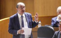 El presidente en funciones de la Diputación General de Aragón y candidato a la reelección, Javier Lambán. (Foto. Flickr Cortes de Aragon)