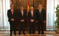 De izq. a dcha.: José Enrique Fernández de Moya, Emilio García de la Torre, Cristóbal Montoro y Serafín Romero.