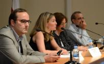 Imagen de los ponentes en la mesa celebrada sobre racionalización del uso de antibióticos en las XVII Jornadas de Calidad en Salud.