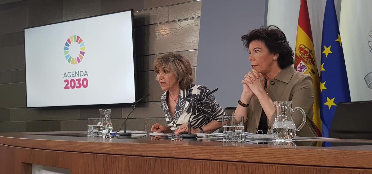 La ministra de Sanidad, María Luisa Carcedo, durante la rueda de prensa del Consejo de Ministros (Twitter Ministerio de Sanidad)