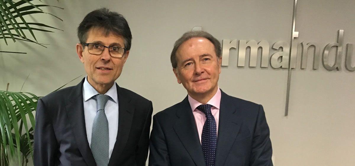 El director general de Farmaindustria, Humberto Arnés y el presidente de esta entidad, Martín Sellés. / Foto: Farmaindustria