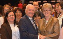 Florentino Pérez Raya y Annette Kennedy, presidentes del Consejo General de Enfermería y del Consejo Internacional de Enfermería   Foto: ConSalud.es