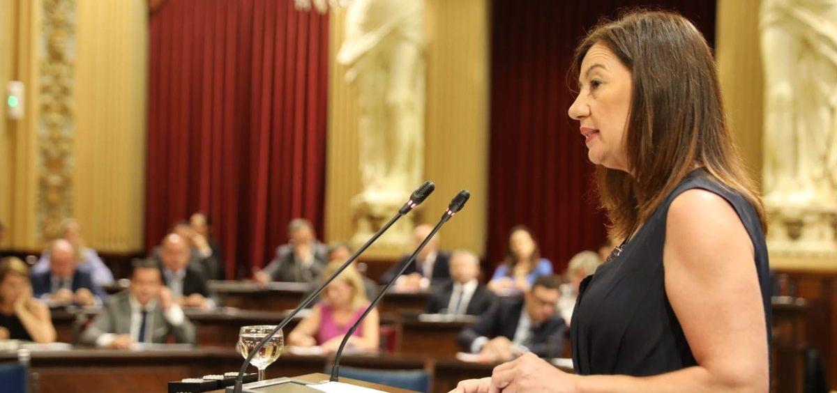 Francina Armengol, presidenta de Baleares en funciones / Foto: @ParlamentIB