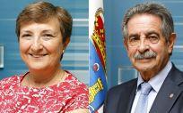 María Luisa Real, consejera de Sanidad de Cantabria en funciones, y Miguel Ángel Revilla, presidente cántabro en funciones / Fotomontaje: ConSalud.es