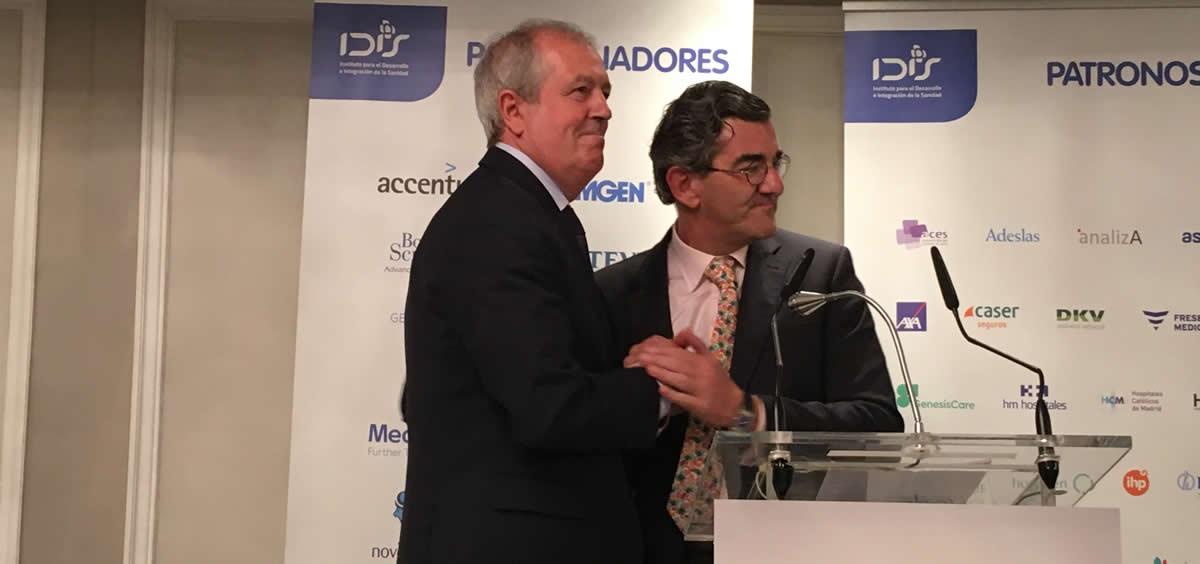 Luis Mayero y Juan Abarca Cidón, expresidente y presidente del Instituto para el Desarrollo e Integración de la Sanidad (Fundación IDIS) | Foto: Judith Arrillaga - ConSalud.es