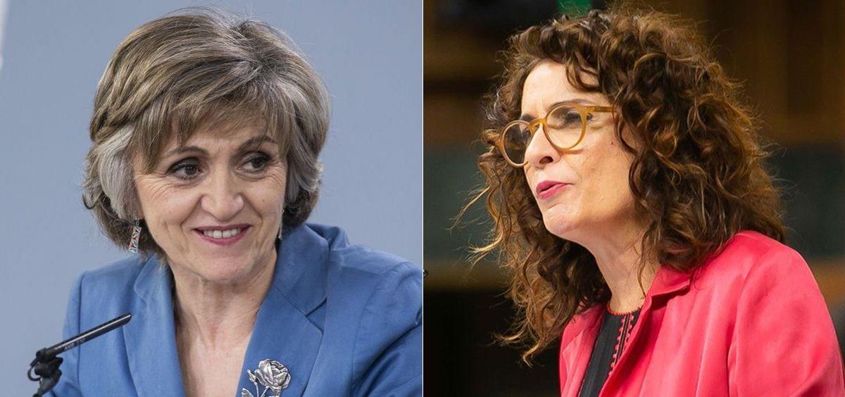 María Luisa Carcedo y María Jesús Montero, ministras de Sanidad y Hacienda en funciones / Fotomontaje ConSalud.es