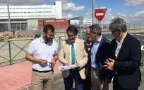 José María Vergeles en su visita al hospital/ Foto: Junta de Extremadura