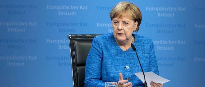 La canciller de Alemania, Angela Merkel, en rueda de prensa (Foto: Gobierno Federal de Alemania)