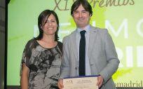 El doctor Felipe Villar en la entrega del premio (Foto de ConSalud)