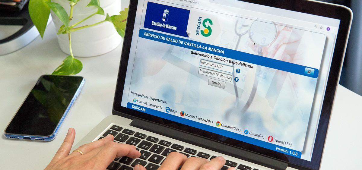 Servicio de cita online de Castilla-La Mancha | Foto: Sescam