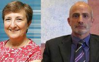La actual consejera de Sanidad en funciones, María Luisa Real y el recién nombrado como nuevo consejero, Miguel Rodríguez.