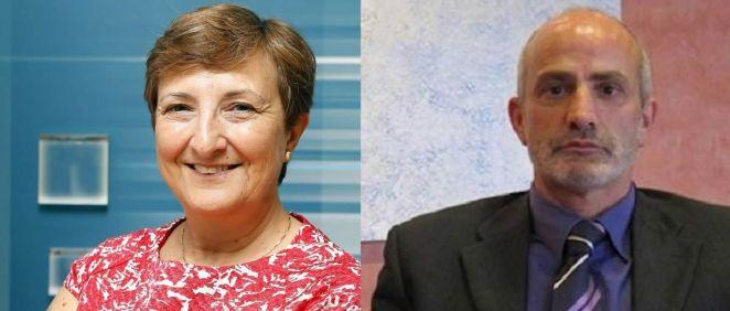 La ex consejera de Sanidad de Cantabria, María Luisa Real, y designado como nuevo consejero, Miguel Rodríguez (Montaje ConSalud.es)