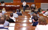 Imagen de un examen de una oferta de empleo público sanitario (OPE). / Foto: Comunidad de Madrid.