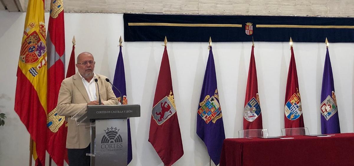 Francisco Igea será el nuevo consejero de Regeneración y Transparencia (Twitter de Manuel Hernández Muñoz)