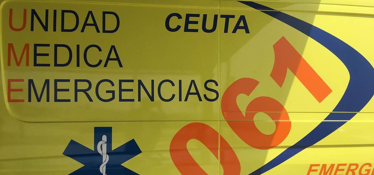 Ambulancia del 061 de Ceuta (Foto: Facebook 061 Ceuta)