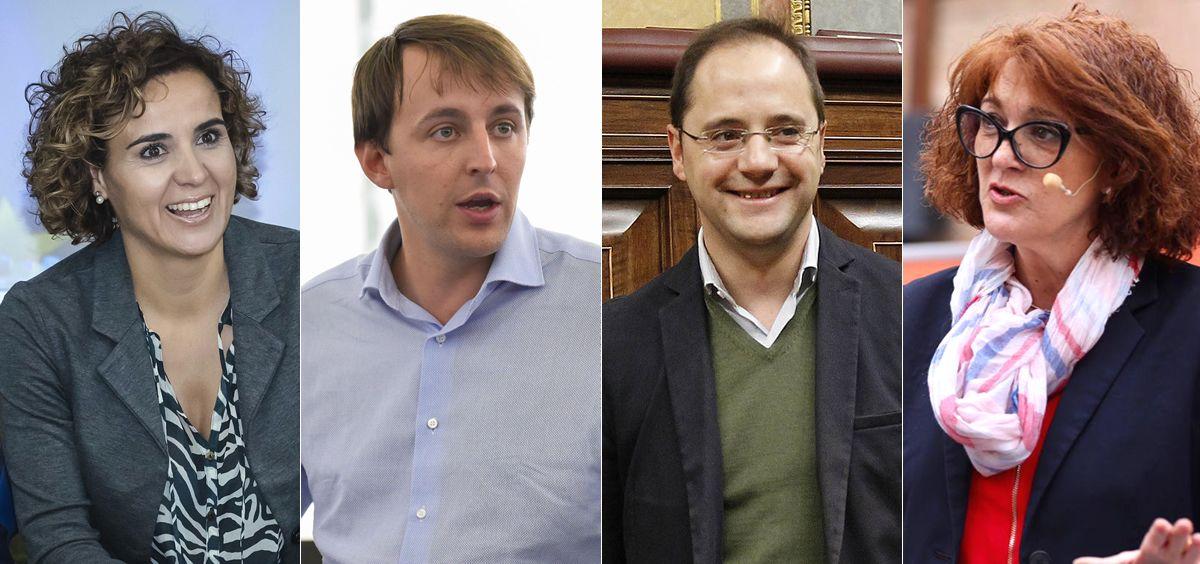 Dolors Montserrat (PP), Javi López (PSOE), César Luena (PSOE) y Soraya Rodríguez (Ciudadanos) / Foto: Fotomontaje ConSalud.es