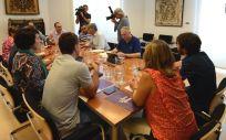 Reunión entre representantes de PSN-PSOE, Geroa Bai, Podemos e Izquierda Ezquerra / Foto: @geroabai