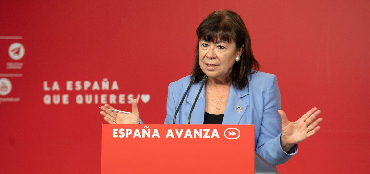 Cristina Narbona, presidenta del PSOE / Foto: Flickr PSOE