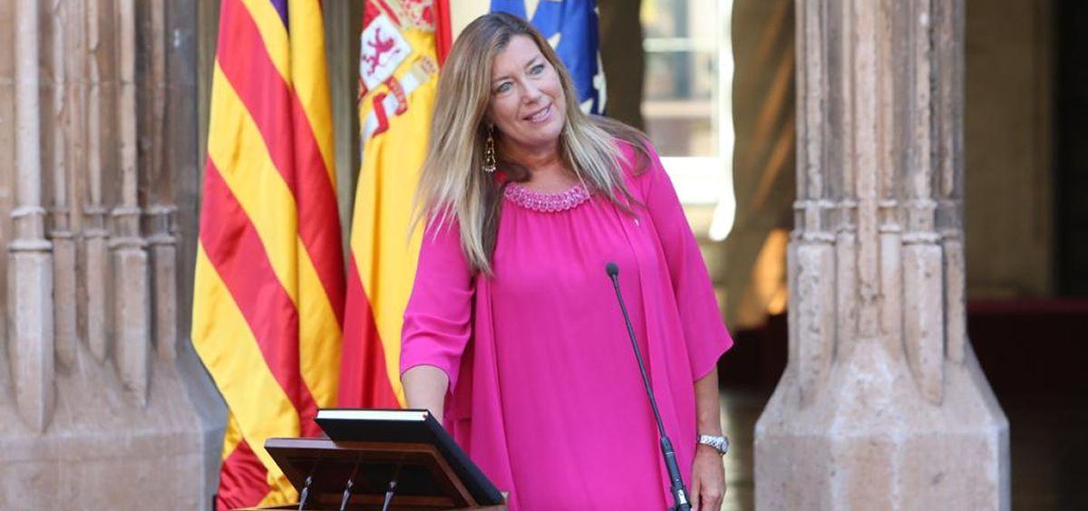 Patricia Gómez, tomando posesión de su cargo como consejera de Salud de Baleares. (Foto. Gobierno de Baleares)