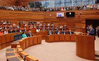 Alfonso Fernández Mañueco, durante el debate de investidura en las Cortes de Castilla y León / Foto: @PopularesCyL