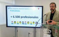 Asensio López, gerente del SMS (Foto de la Región de Murcia)