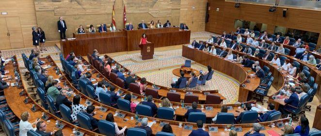Pleno de la Asamblea de Madrid / Foto: @asambleamadrid