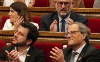 El presidente de la Generalitat de Cataluña, Quim Torra, en una sesión plenaria. / Foto: Parlament de Cataluña