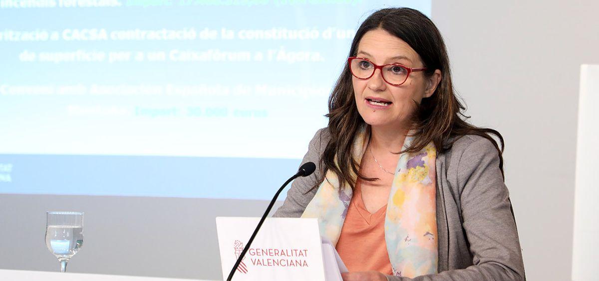 Mónica Oltra, vicepresidenta y consejera de Igualdad y Políticas Inclusivas de la Generalitat Valenciana / Foto: GVA