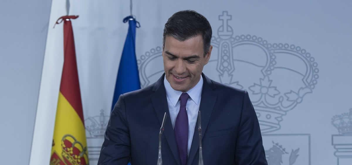 El presidente del Gobierno en funciones, Pedro Sánchez. / Foto: Pool Moncloa - Borja Puig de la Bellacasa