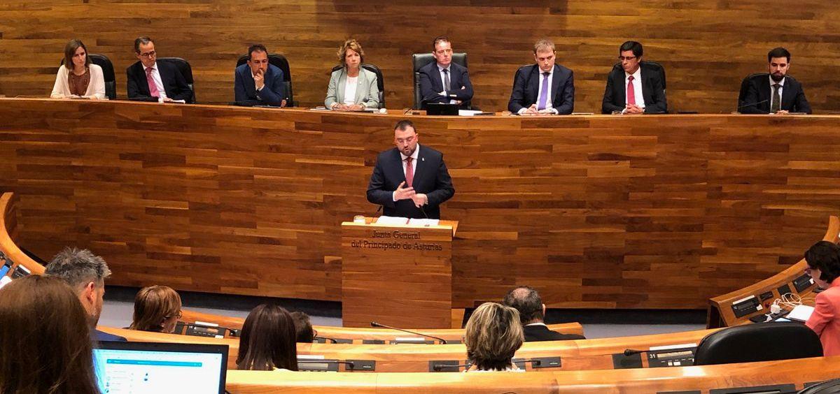 Adrián Barbón, secretario general del PSOE de Asturias / Foto: @GPSAsturias