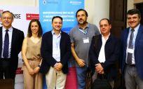 De izqda. a dcha. Mariano Sanz, Paula Matesanz, David Andrés Pérez, Juan Carlos Leza, Alberto Rábano y David Herrera (Foto. ConSalud.es)