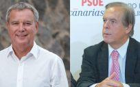 Sebastián Franquis y José Vicente González Bethencourt (Foto: PSOE de Canarias)