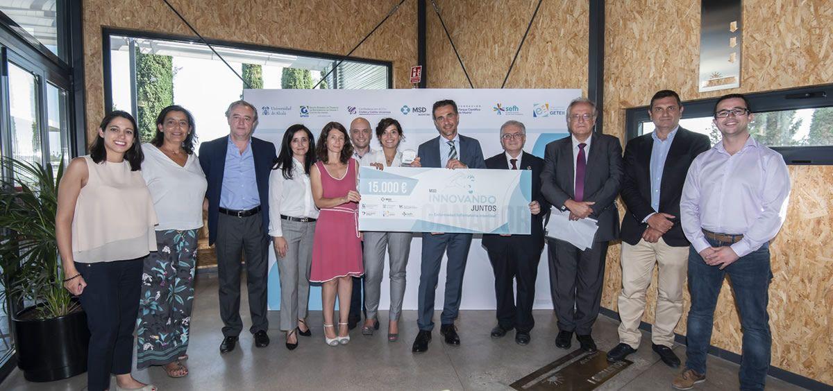 Entrega del premio (Foto. ConSalud.es)