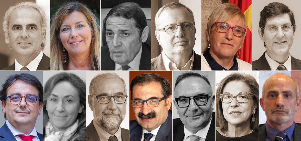 Consejeros de Sanidad de las regiones donde ha habido elecciones autonómicas (Imagen: Fotomontaje ConSalud.es)