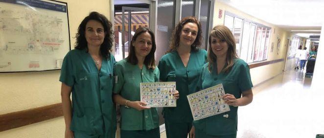 Pictogramas para pacientes con dificultad de comunicación (Foto. Sescam)