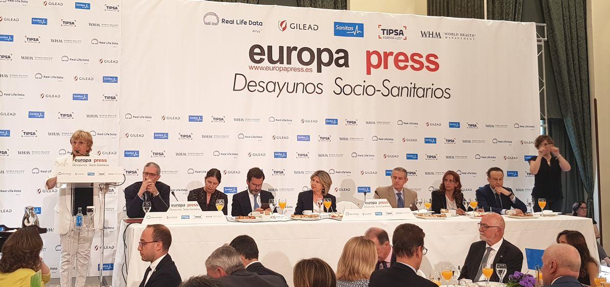 Ana Barceló, consejera de Sanidad de la Comunidad Valenciana, en los desayunos de Europa Press (Foto: ConSalud.es)